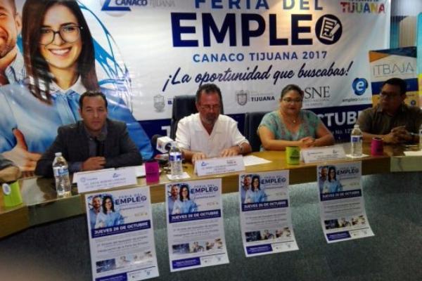 Anuncian Feria del Empleo en CANACO Tijuana.