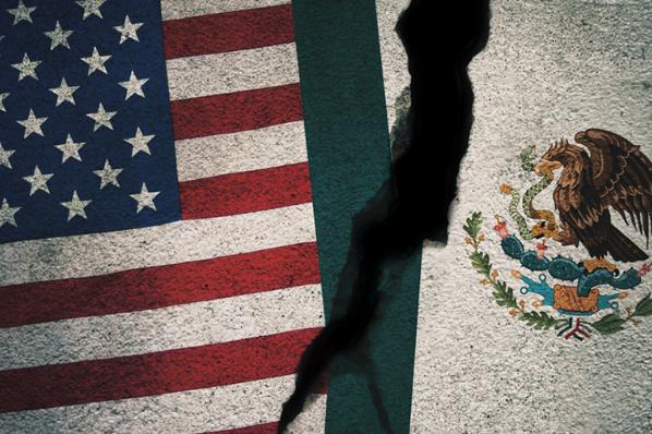 Economías de EU y México se sueltan de la mano; la primera crece y la segunda se estanca.